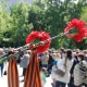 Георгиевская лента и цветы