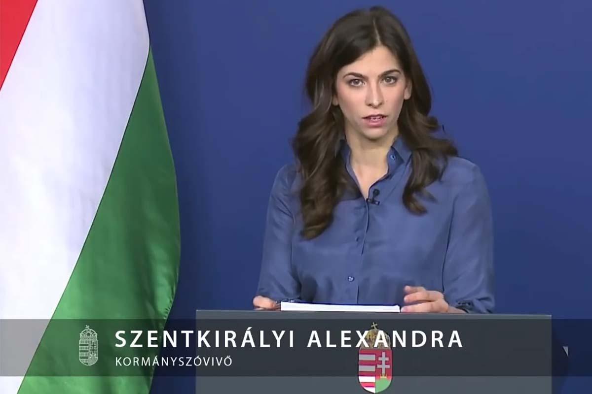 Пресс-секретарь правительства Александра Сенткирай